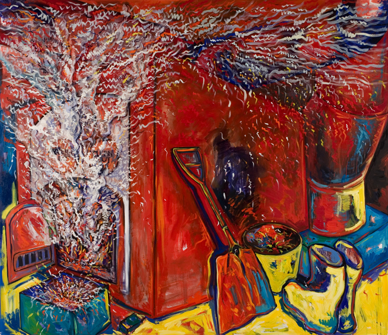 Furnace Fire · 1990 · oil on canvas · 78 × 90″
