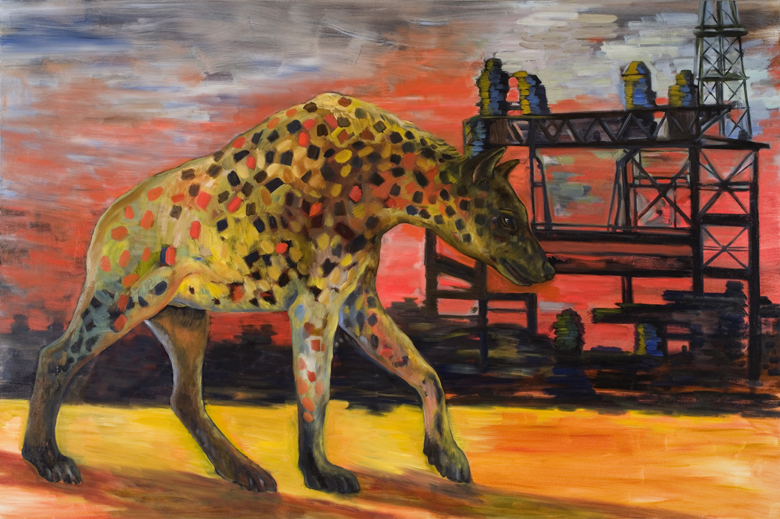 Spotted Hyena · 2006 · oil on canvas · 48 × 72″