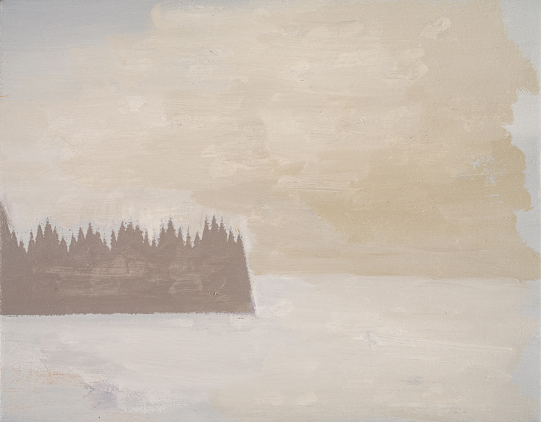Gray Landscape No. 1 · 2001 · oil on canvas · 8 × 10″