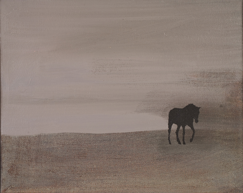 Horse Landscape No. 2 · 2002 · oil on canvas · 8 × 10″