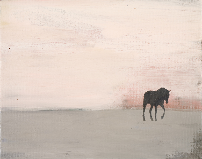 Horse Landscape No. 1 · 2002 · oil on canvas · 8 × 10″