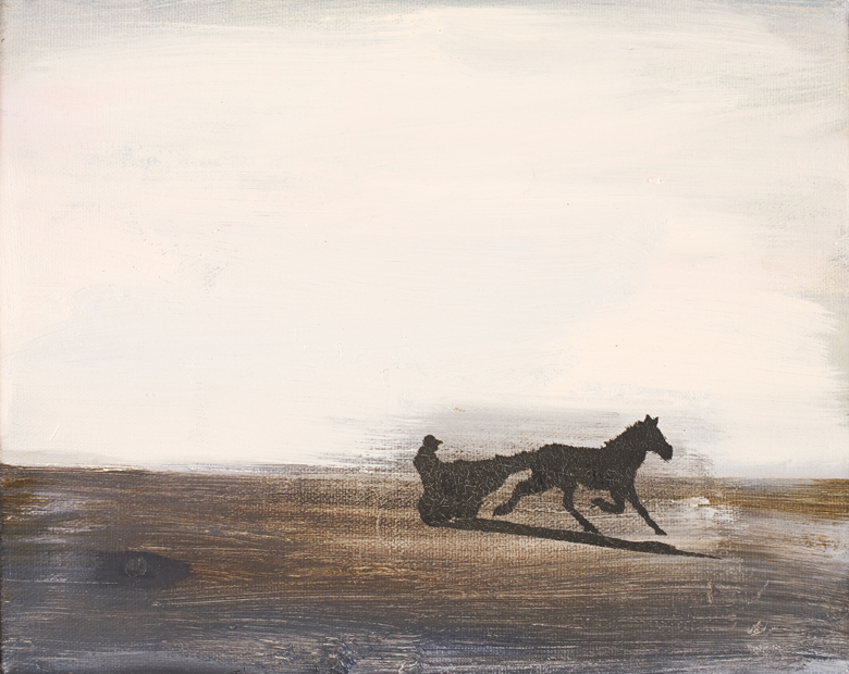 Trotting Horse No. 3 · 2002 · oil on canvas · 8 × 10″