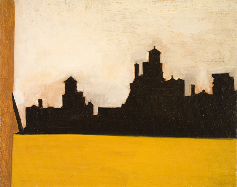 Cityscape No. 1 · 2002 · oil on canvas · 8 × 10″