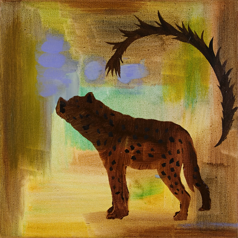Spotted Hyena #3 2006 · oil on canvas · 12 × 12″