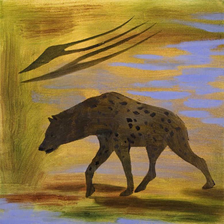 Spotted Hyena #5 · 2006 · Oil on canvas · 12 × 12″