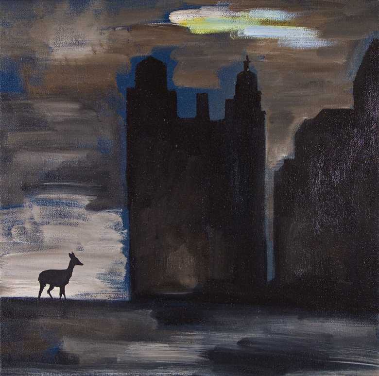 Deer · 2006 · Oil on canvas · 12 × 12″