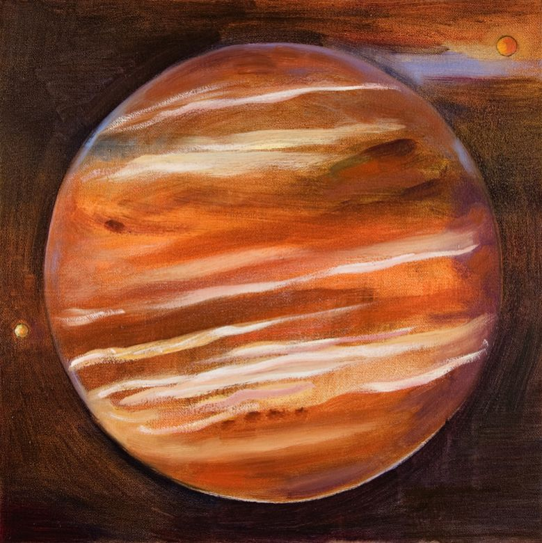 Jupiter Moons · 2006 · oil on canvas · 12 × 12″