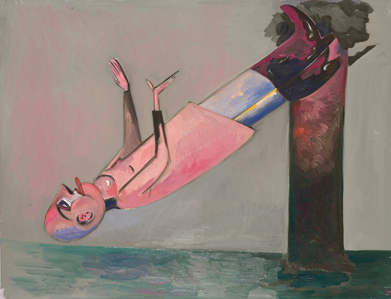 Small Floating Man · 1994 · oil on paper · 26 × 20″