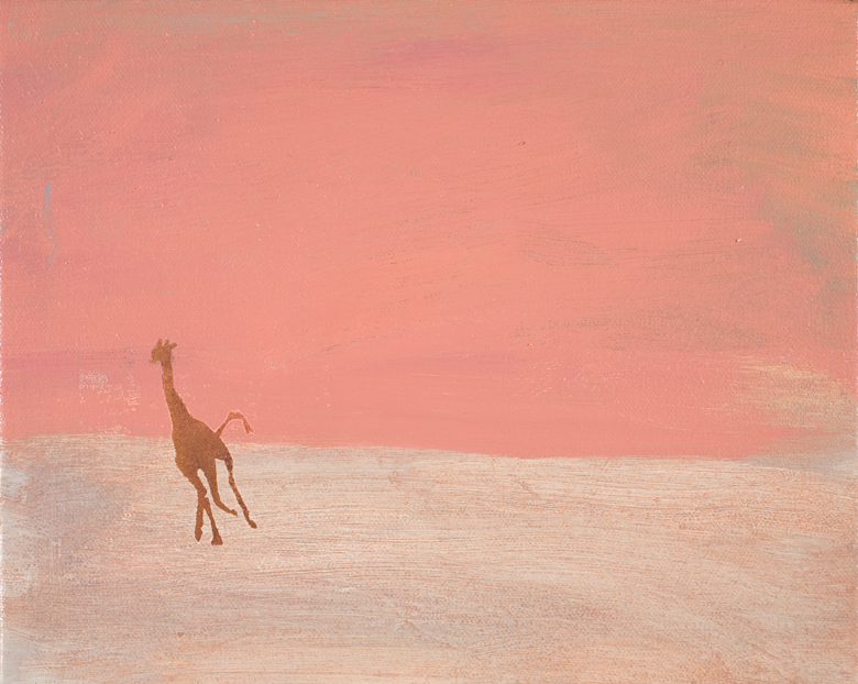 Giraffe Landscape No. 1 · 2002 · oil on canvas · 8 × 10″